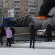 В Ульяновске во время движения загорелся трамвай