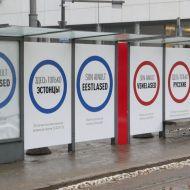 В Таллине появились плакаты про разделение русских и эстонцев