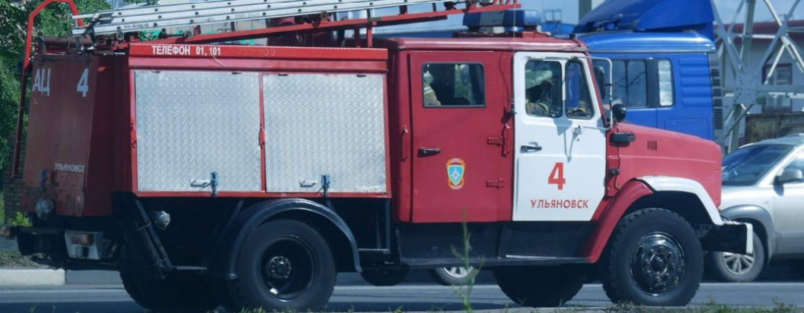 38 МЧСников в Ульяновске тушили пожар на Олега Кошевого