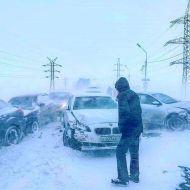 Массовое ДТП в Ульяновске. Императорский мост заблокирован
