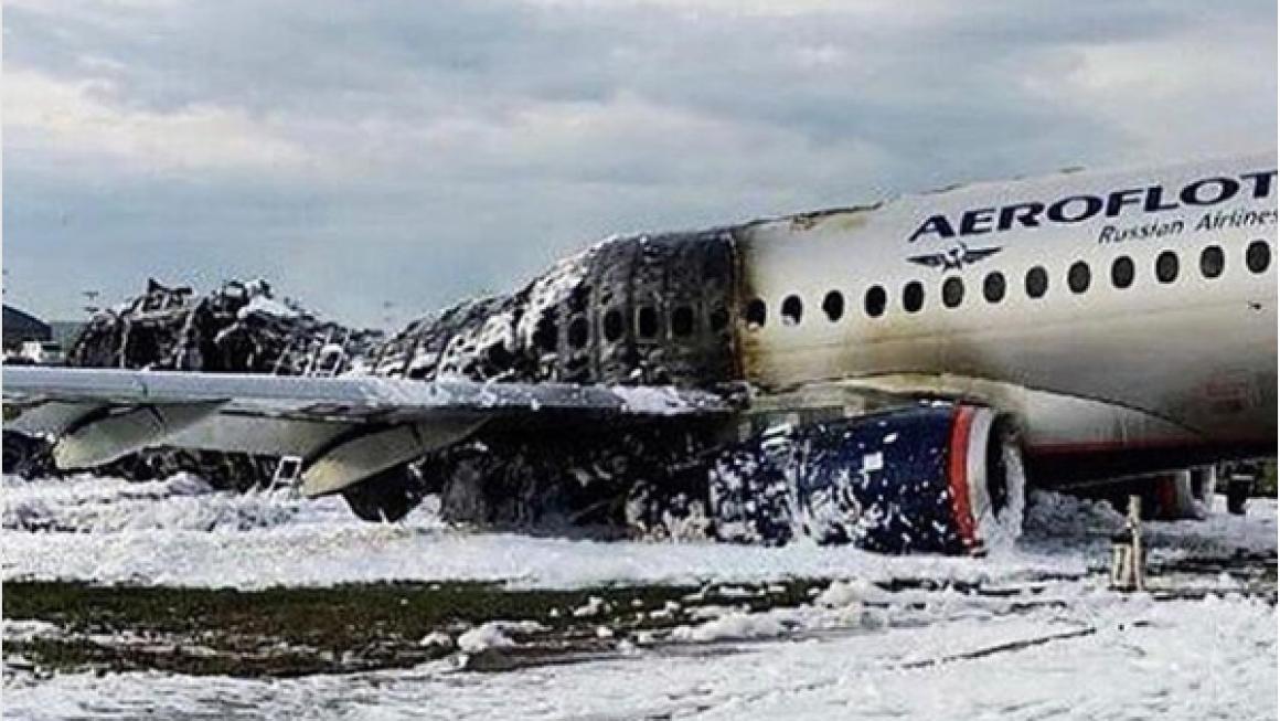 """41 человек погиб из-за пожара на самолете """"Аэрофлот"""""""