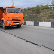 Дорога в сторону Речного порта вновь разрушается