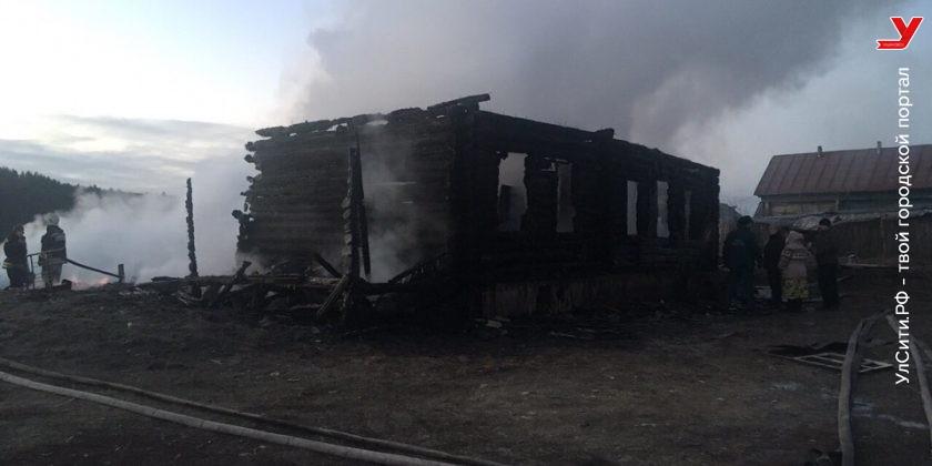 В Ульяновской области пенсионеры погибли при пожаре