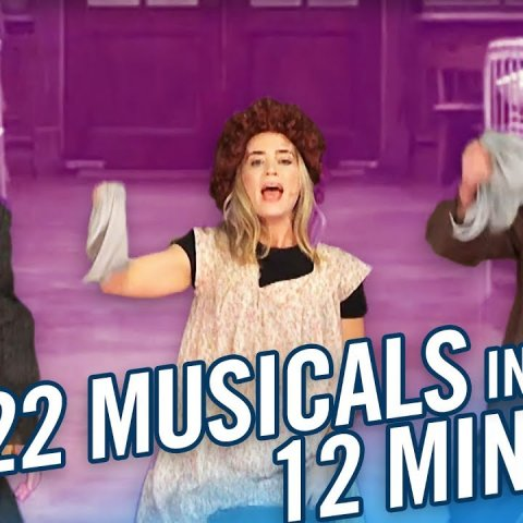 22 Musicals In 12 Minutes w/ Lin Manuel Miranda & Emily Blunt смотреть онлайн в хорошем качестве
