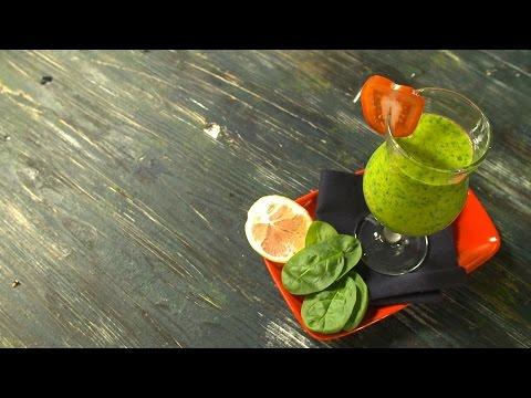 Кулинария: Рецепт смузи из шпината, бананов и киви в блендере от Константина Ивлева