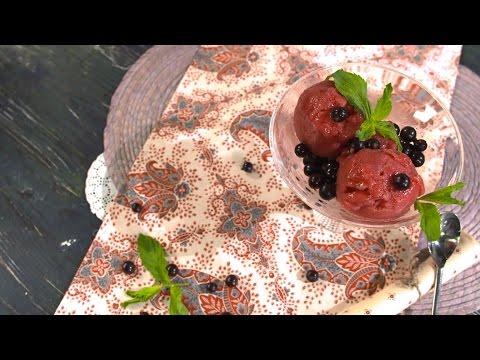 Видеорецепт сорбета из черной смородины в мороженице от Ольги Шенкерман