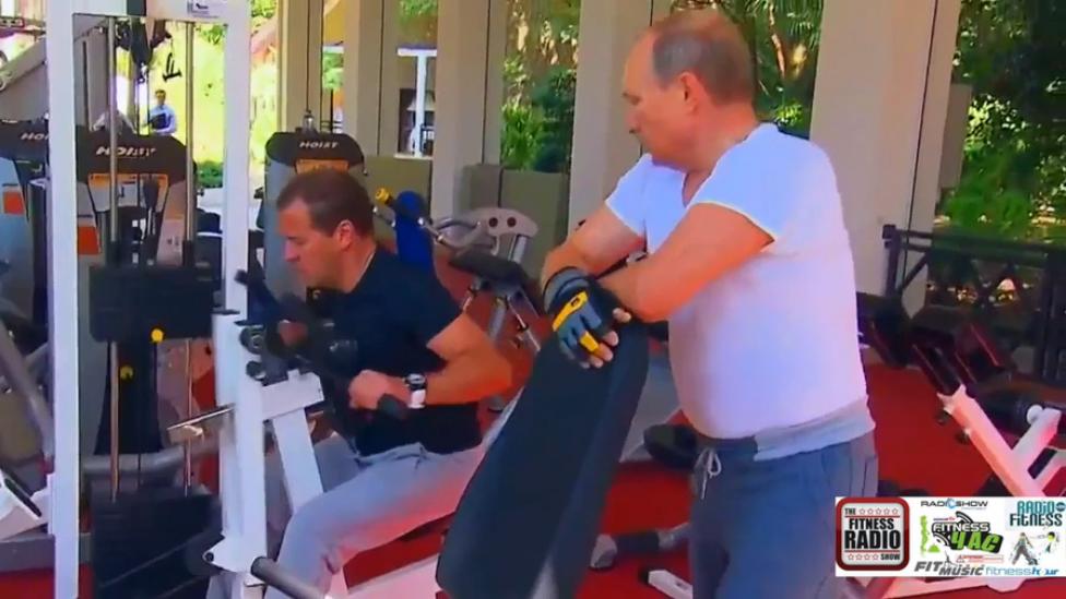Мотивашка от президента. Путин и Медведев Фитнес-тренировка. Барбекю. Завтрак. В Движении Здоровье!